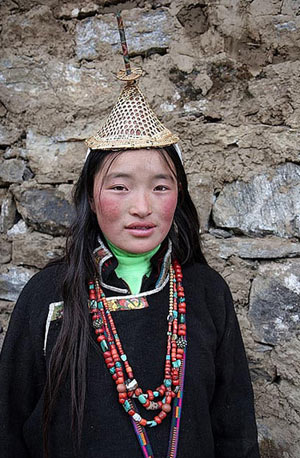 Bhutanese Women in Traditional Dress