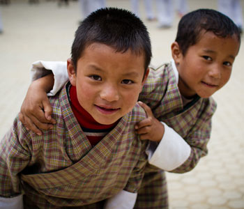 Happy Kids in Bhutan